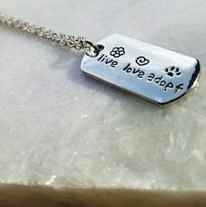 *Live *Love *Adopt Dog Tag Necklace NWT